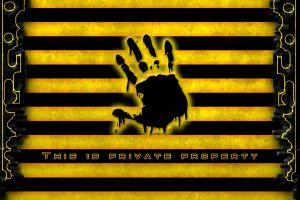 warning signs yellow hands