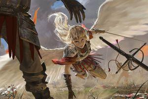 warrior fantasy art angel