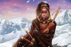 warrior snow katana