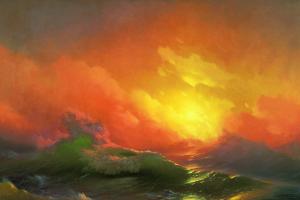 water artwork sea ivan aivazovsky classic art