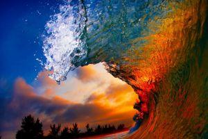 water beach coast sunset nature sea landscape liquid waves