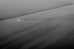 water boat monochrome