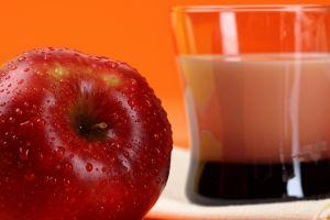 water drops fruit apples food