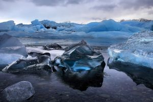 water landscape ice nature iceland