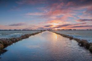 water landscape sky sunset