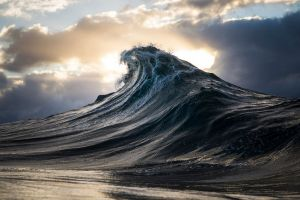 water nature landscape sea clouds waves