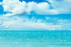 water sky multiple display clouds
