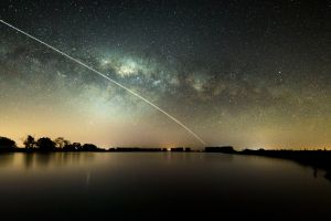 water stars sky night sky