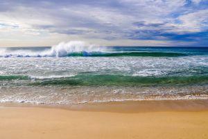 waves sea beach coast