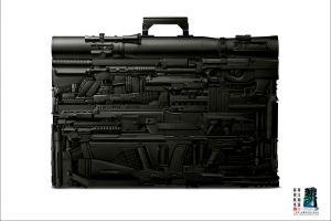 weapon digital art suitcase