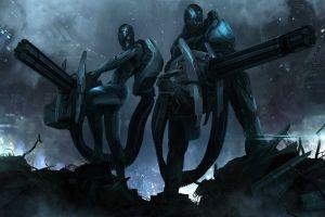weapon futuristic science fiction artwork