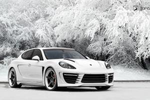 white cars porsche porsche panamera car