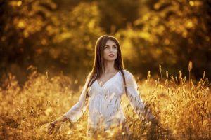 white tops portrait brunette long hair women model face