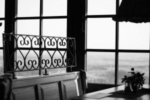 window indoors monochrome