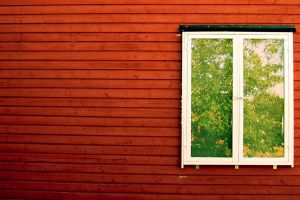 window simple planks house red