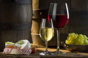 wine cheese food grapes glass