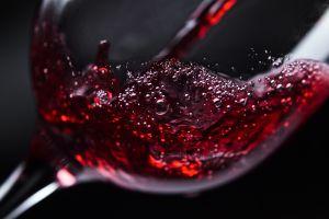 wine macro drinking glass