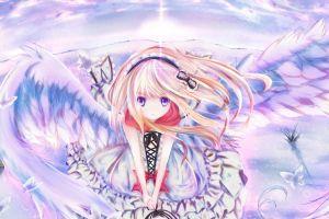 wings angel anime original characters anime girls blonde