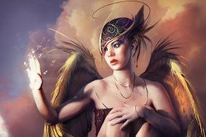 wings fantasy art fantasy girl artwork digital art asian