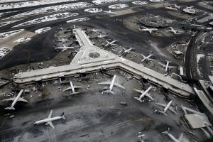 winter aerial view airport aircraft airplane