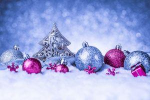 winter closeup christmas ornaments