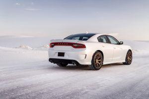 winter dodge charger snow srt dodge car dodge charger hellcat road