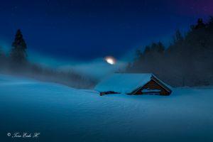winter nature cabin snow landscape nordic landscapes
