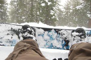 winter snow snowboards
