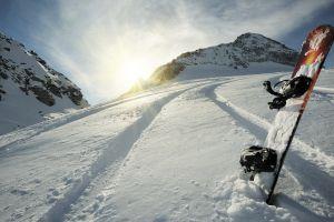 winter snowboards snow