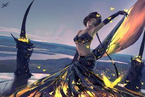 wlop fantasy art ghostblade