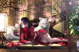 wolf flowers traditional clothing