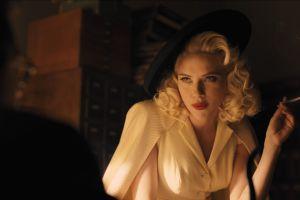 women actress scarlett johansson smoking cigarettes movies