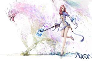 women aion dragon digital art aion online