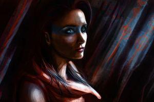 women artwork painting