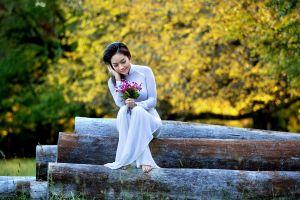women asian women outdoors