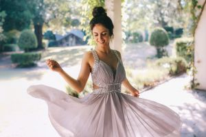 women aurela skandaj buns women outdoors brunette dress white dress