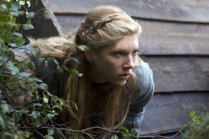 women blonde braids vikings (tv series) lagertha lothbrok blue eyes movie scenes katheryn winnick model actress