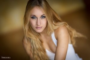 women blonde portrait face
