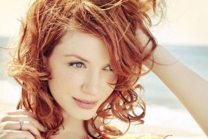 women blue eyes christina hendricks face redhead
