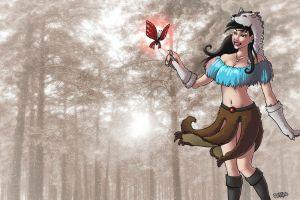 women drawing tibia druids creature rpg pc gaming