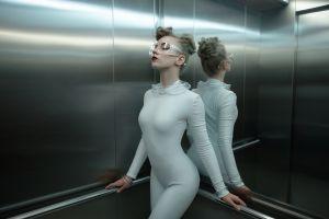 women elevator fashion catsuits model