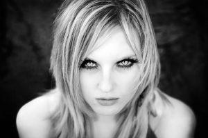 women eyes portrait monochrome