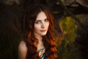 women face redhead portrait