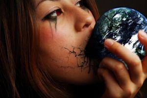 women fantasy art earth graphic design model