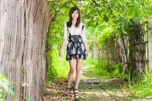 women feet brunette taiwanese asian mikako zhang kaijie