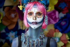 women makeup model face