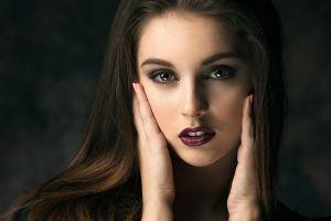 women model brown eyes portrait