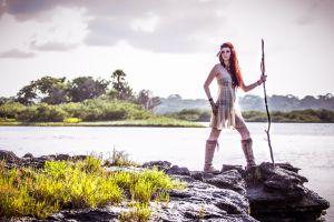 women model fantasy art redhead