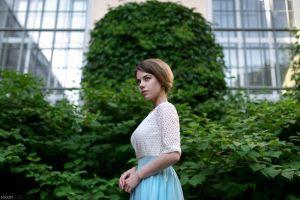 women model maxim guselnikov portrait christina arefyeva short hair
