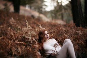 women model women outdoors redhead